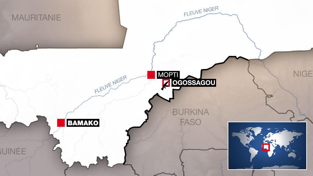 Le village d'Ogossagou dans le centre du Mali.