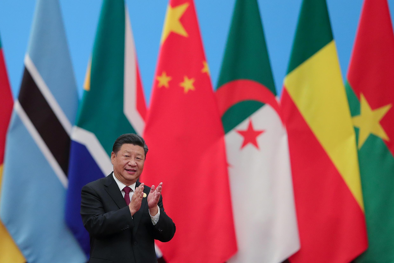 Chủ tịch Trung Quốc Tập Cận Bình tại Thượng Đỉnh Diễn Đàn Hợp Tác Trung Quốc-Châu Phi 2018 ở Bắc Kinh, ngày 04/09/2018. Lintao Zhang/Pool