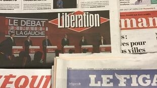 Primeiras páginas dos diários franceses 16/1/2017