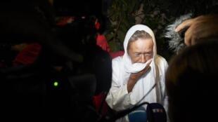 Sophie Pétronin peu de temps après sa libération.