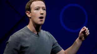 Mark Zuckerberg, PDG de Facebook, à San José en avril 2017 (illustration).