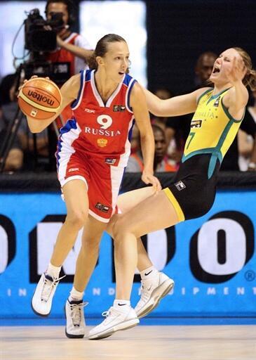 Russie - Australie, finale du Mondial 2006 de basket-ball féminin.