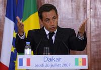 Le discours de Dakar, 26/7/2007.