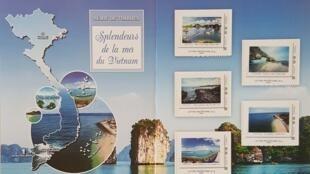 Bộ tem biển đảo Việt Nam do bưu chính Pháp vừa giới thiệu tại Paris ngày 22/11/2017.