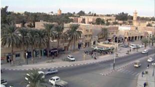 Une vue de la ville de Ouargla en Algérie.