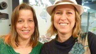 Gianna y laura Caronni en los estudios de RFI