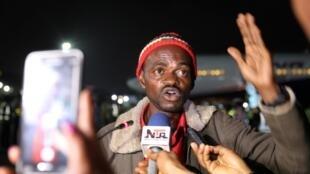 Ressortissant nigérian évacué d'Afrique du Sud, à l'aéroport de Lagos, le 11 septembre 2019.