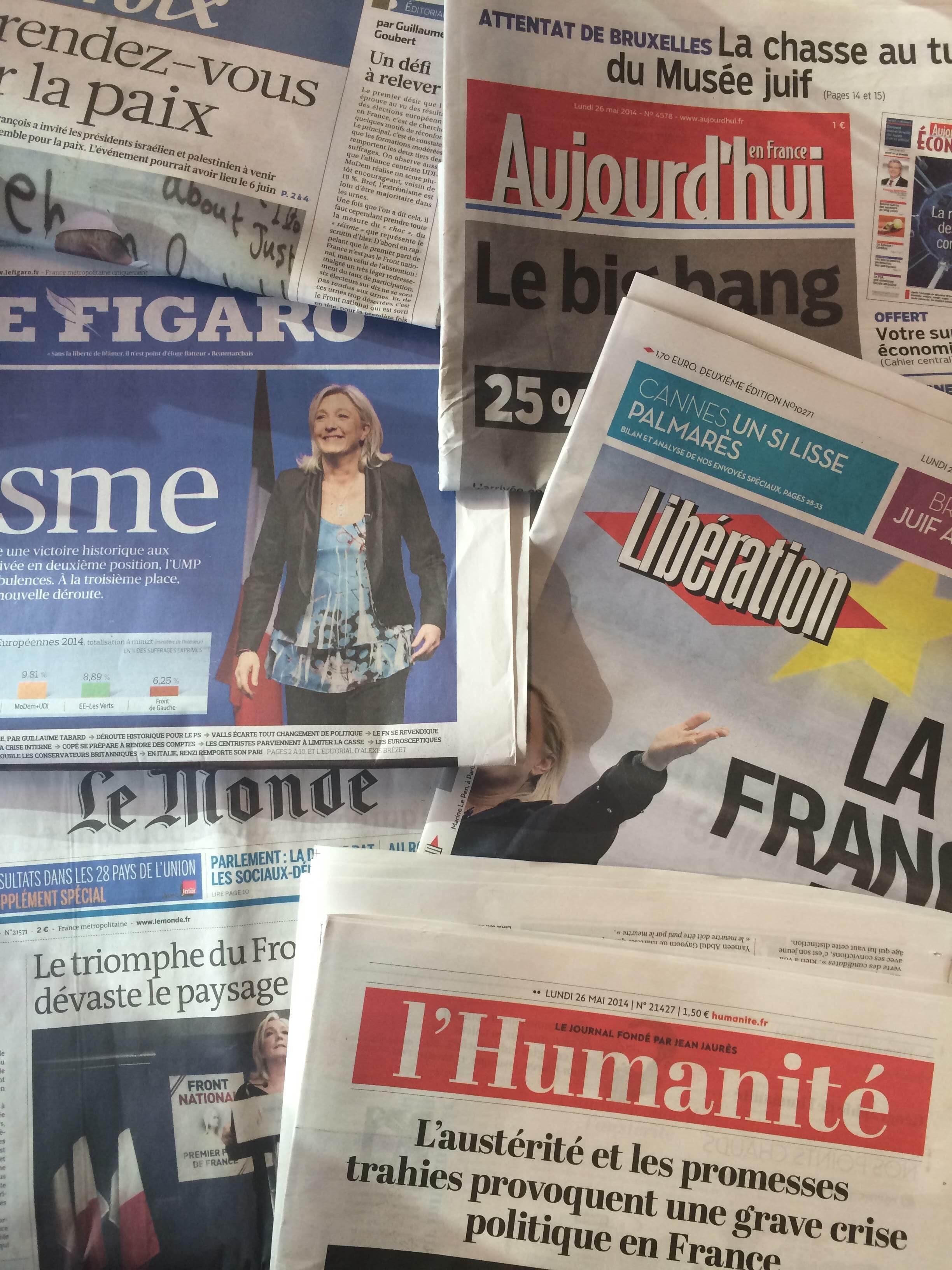 Diários franceses 26/05/2014