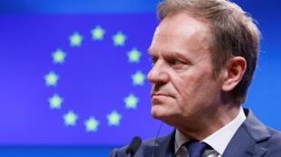 Donald Tusk, reeleito para mais um mandato como presidente do Conselho Europeu.