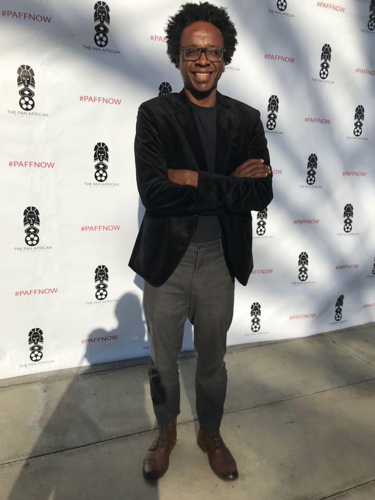 O cineasta Jeferson De em Los Angeles, no Pan African Film Festival.