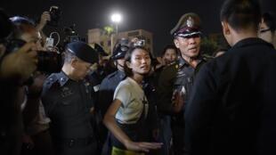 Des centaines de personnes se sont rassemblées, le 19 septembre 2015, à Bangkok pour protester contre la junte militaire au pouvoir.