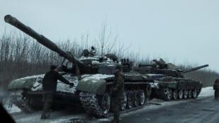 Xe tăng tại Bakhmut, ngày 7/2/2017.