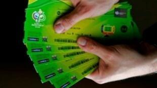 Ingressos para a Copa do Mundo 2014 no Brasil.