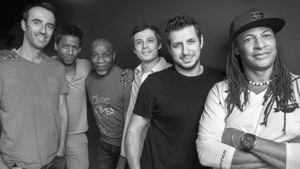 Lema's current line-up: Sylvain Gontard, Irving Acao, Ray Lema, Rodrigo Viana, Nicolas Viccaro, Michel Alibo.