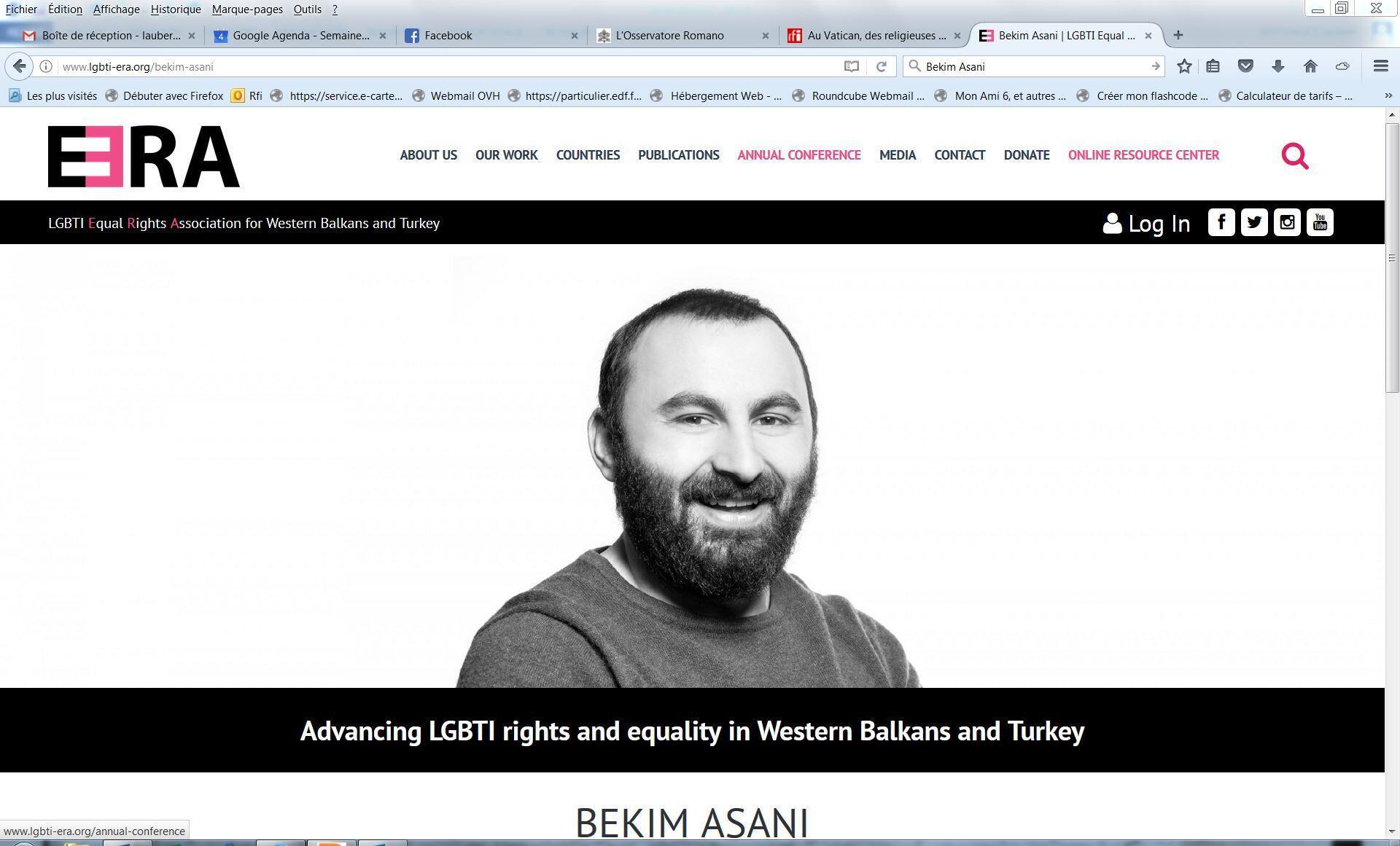 Le militant LGBT Bekim Asani