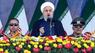 El presidente Hassan Rohani pronunció un discurso muy duro contra Washington este 22 de septembre.