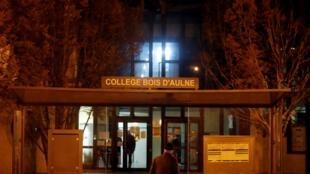 Le collège de Conflans-Sainte-Honorine, au nord-ouest de Paris, où exerçait la victime, le 16 octobre 2020.