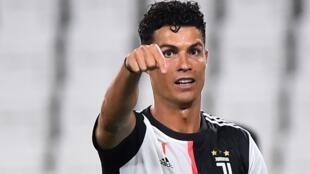 Cristiano Ronaldo (Juventus Turin), le 20 juillet 2020, lors du match contre la Lazio.