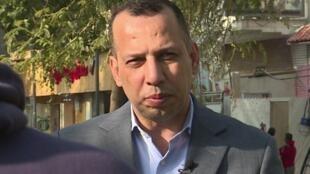 Capture d'écran de l'AFPTV à partir d'une vidéo réalisée le 11 février 2019 montrant l'expert du jihadisme irakien Hisham al-Hashemi lors d'une interview à Bagdad.