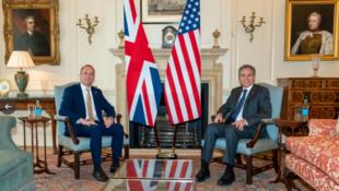 英美兩國外長舉行會談資料圖片