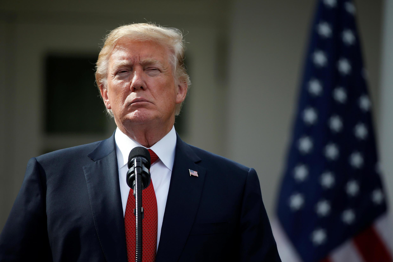 El presidente de Estados Unidos, Donald Trump, en la Casa Blanca, este 23 de octubre de 2017.