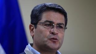 El presidente de Honduras, Juan Orlando Hernández, en diciembre de 2017.