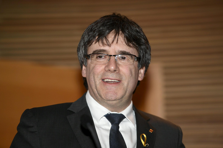 Ông Carles Puigdemont, cựu thủ hiến vùng Catalunya, Tây Ban Nha trình bày tình hình Catalunya tại Quốc Hội Phần Lan, Helsinki, ngày 22/03/2018
