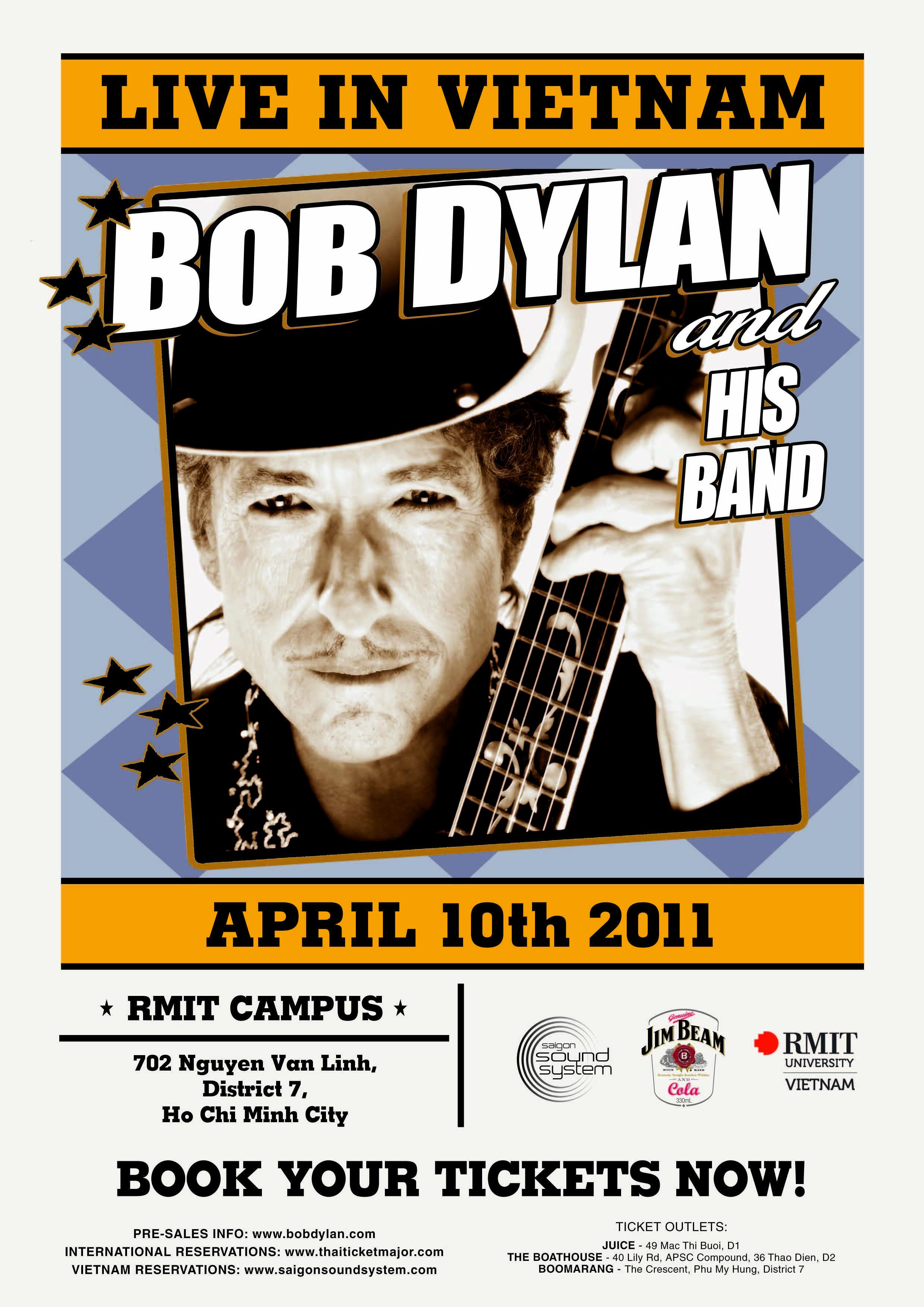 Bob Dylan biểu diễn tại sân vận động Đại Học Úc RMIT (Reuters)