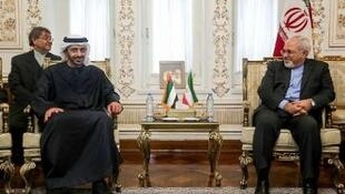 محمد جواد ظریف- وزیر امور خارجه جمهوری اسلامی ایران، با شیخ عبدالله بن زاید آل نهیان- وزیر امور خارجه امارات متحده عربی دیدار و گفت وگو کرد.