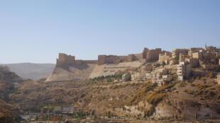 Castelo medieval na cidade turística de Karack, no sul da Jordânia