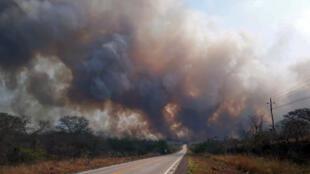 En Bolivie, la région de Santa Cruz est ravagée par les flammes, environ 500 000 hectares sont partis en fumée.