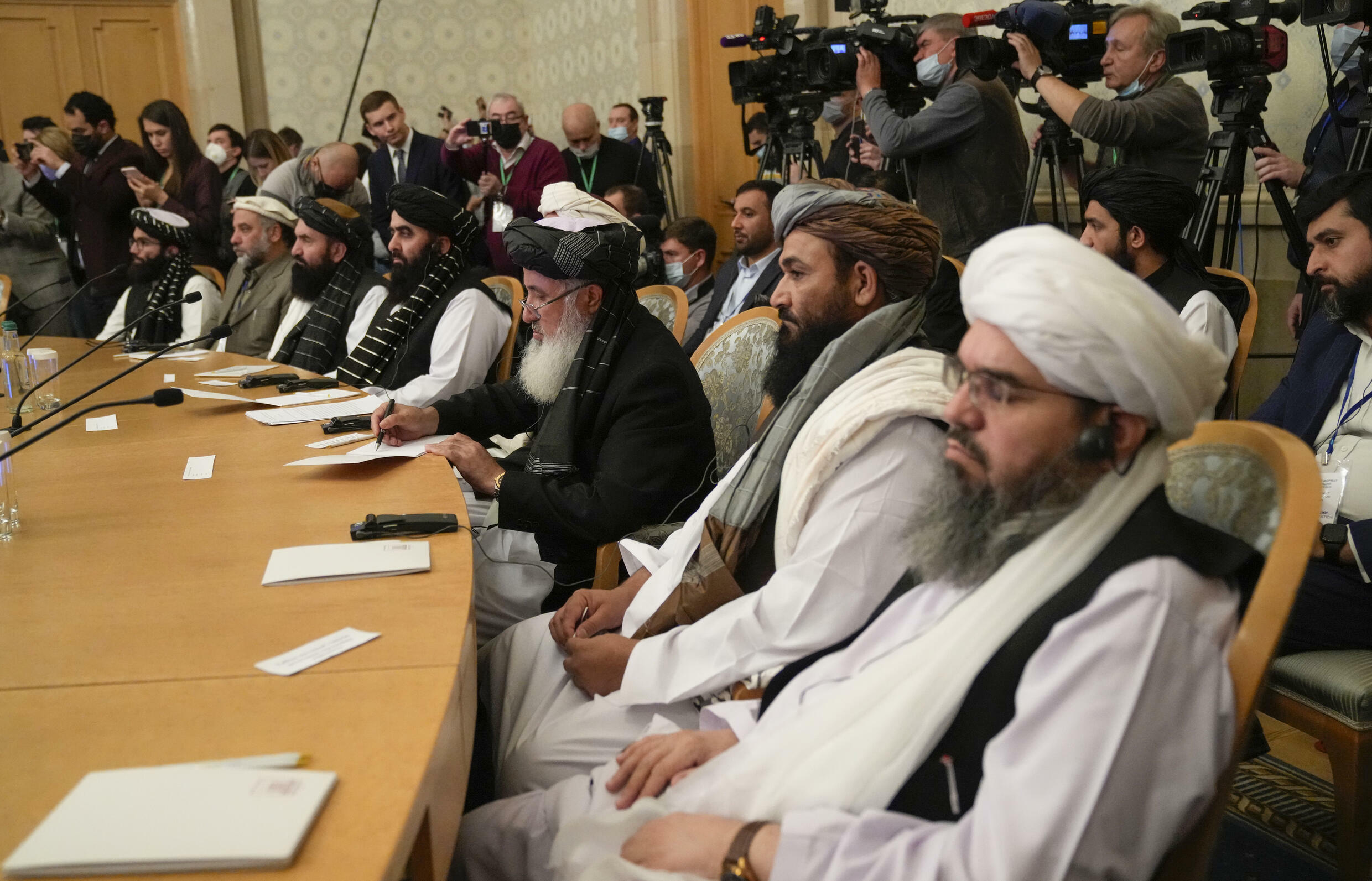 The talks in Moscow are one of the Taliban's most high-profile international meetings since seizing power in mid-August.