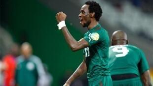 Le Burkinabè Jonathan Pitroipa, après son but contre le Togo, pendant la CAN 2013.