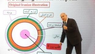 以色列总理内塔尼亚称,伊朗一直在隐瞒研发核武器。2018-04-30