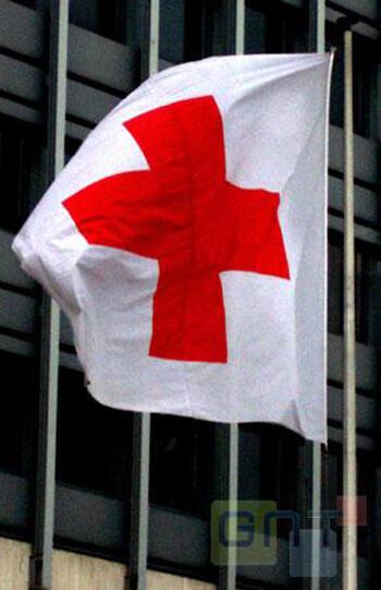 Image d'archive RFI : Drapeau Croix Rouge