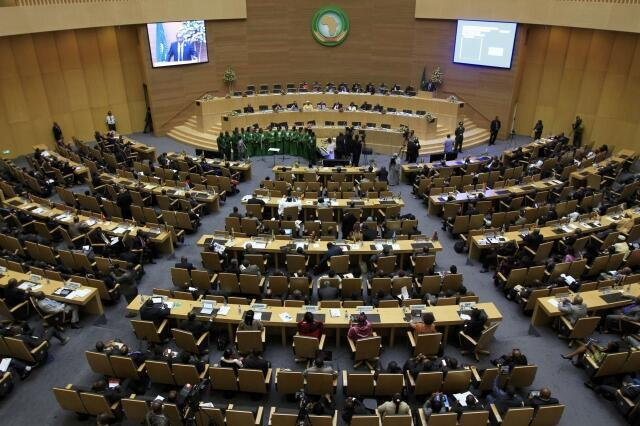 Closing session of the African Union in Addis Ababa, 27 May, 2013
