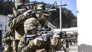 2014年美国和韩国的年度海军陆战队联合演习照片