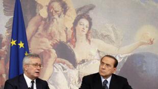 El gobierno italiano de Silvio Berlusconi adoptó  una severa cura de austeridad para ahorrar unos 47.000 millones de  euros antes de 2014.