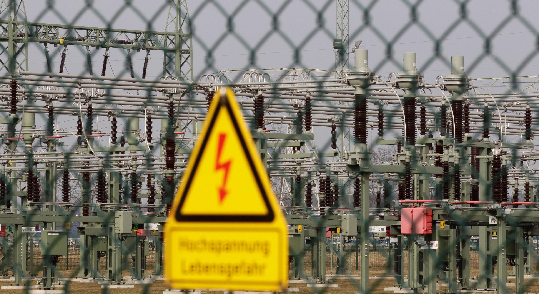Un transformateur électrique appartenant à 50Hertz, à Neuenhagen, en Allemagne.