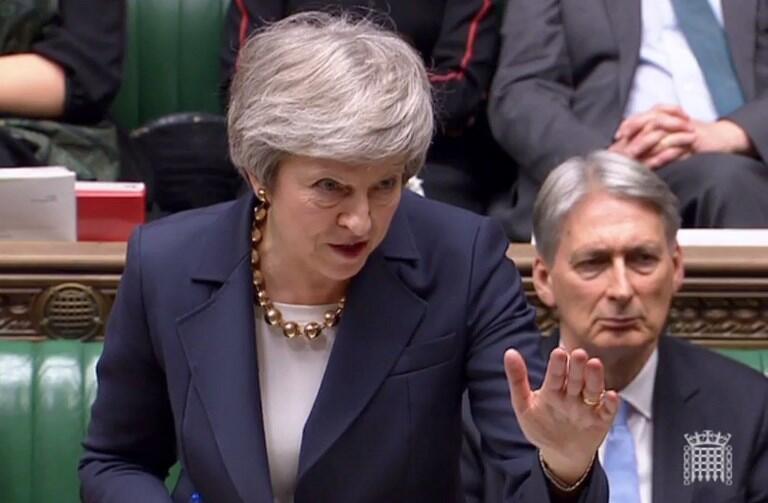 Fira Ministar Birtaniya Theresa May, a zauren majalisar kasar.