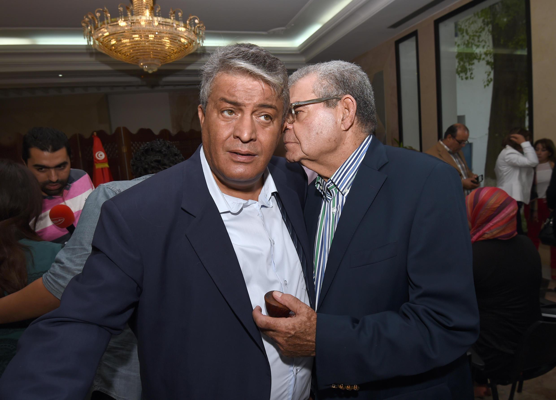 Mondher Belhaj Ali et Moncef Sallami, font partie de la trentaine de députés de Nidaa Tounes, qui ont annoncé le gel de leur adhésion au parti, le 4 novembre 2015. a
