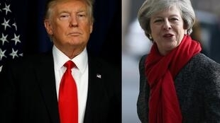 Donald Trump et Theresa May.