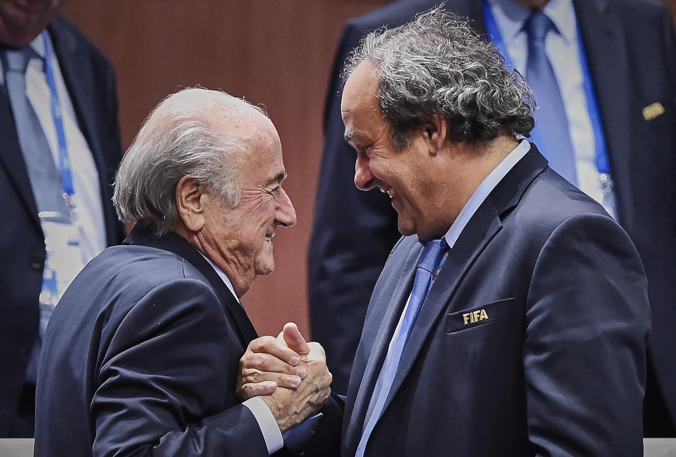 Sepp Blatter and Michel Platini in June 2015.