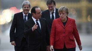 Shugaban Faransa Francois Hollande da Angela merkel ta kasar Jamus