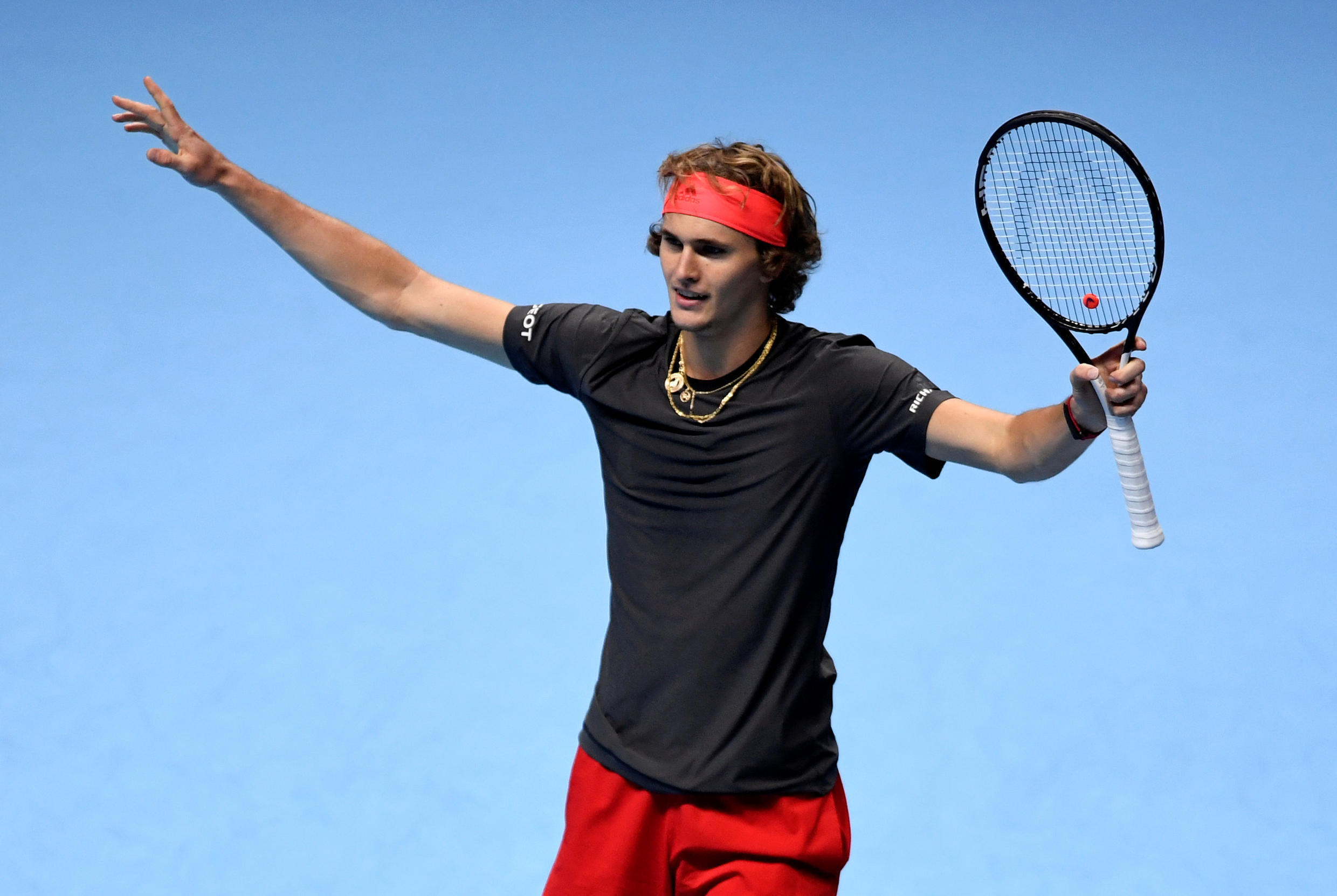Alex Zverev became the youngest man to reach the last four at the end of season championships since 2009.