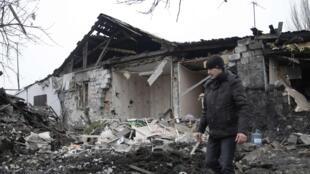 烏克蘭東部叛軍控制城市1月19日遭到炮擊