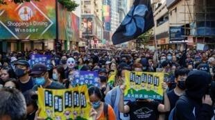 Hồng Kông, biểu tình, bất chấp lệnh cấm. Ảnh sáng 02/11/2019.