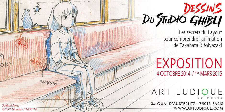 Exposition dessins du studio Ghibli.