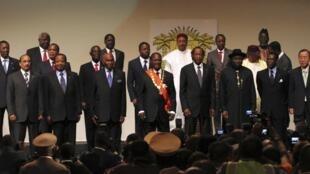 La cérémonie d'investiture du président ivoirien, le 21 mai 2011 à Yamoussoukro .