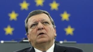 José Manuel Barroso, le président sortant de la Commission européenne, a défendu son bilan au Parlement européen, à Strasbourg, le 21 octobre 2014.